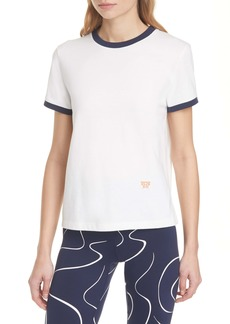 Tory Sport by Tory Burch Flocked Sport Ringer Graphic Tee