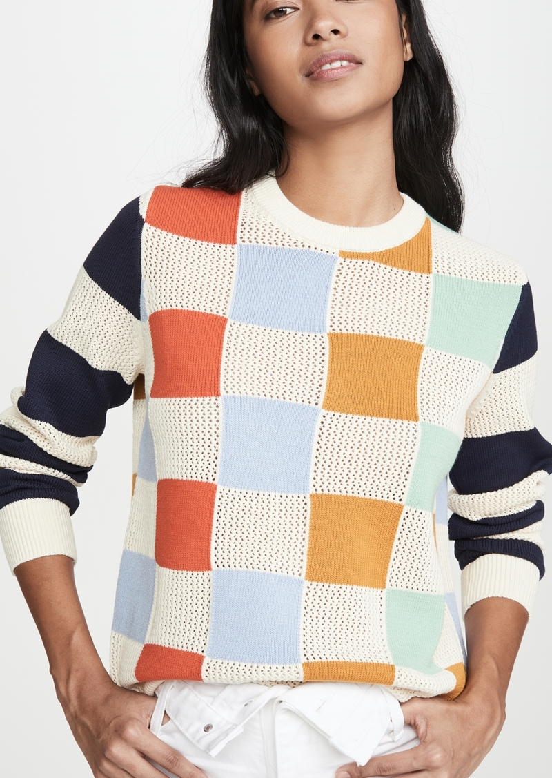 Tory Sport Checkered Pullover Sweater