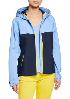 Tory Sport Colorblock Double Hooded Running Jacket