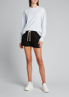 Tory Sport Crewneck Relaxed French Terry Pullover