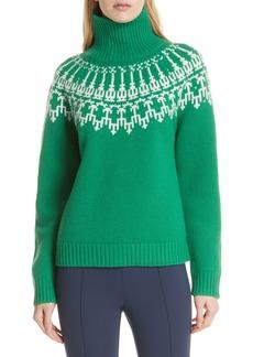 Tory Sport Fair Isle Turtleneck Sweater