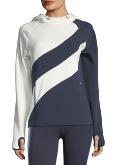 Tory Sport High-Visibility Hooded Running Top