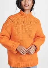 Tory Sport Oversized Chunky Hand Knit Sweater