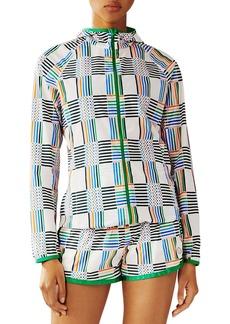 Tory Sport Printed Nylon Packable Jacket
