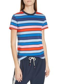 Tory Sport Stripe Cotton Tee