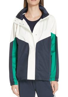 Tory Sport Waterproof Colorblock Performance Satin Jacket
