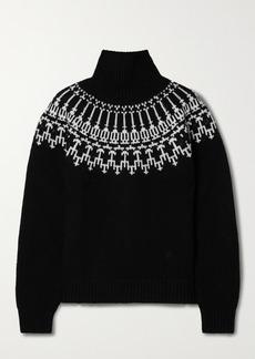 Tory Sport Wool-jacquard Turtleneck Sweater