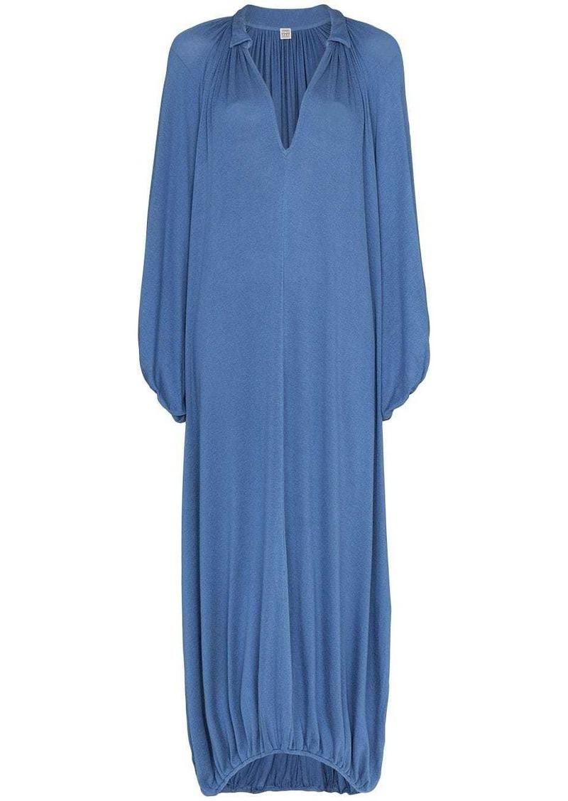 Totême Paliano v-neck gathered dress