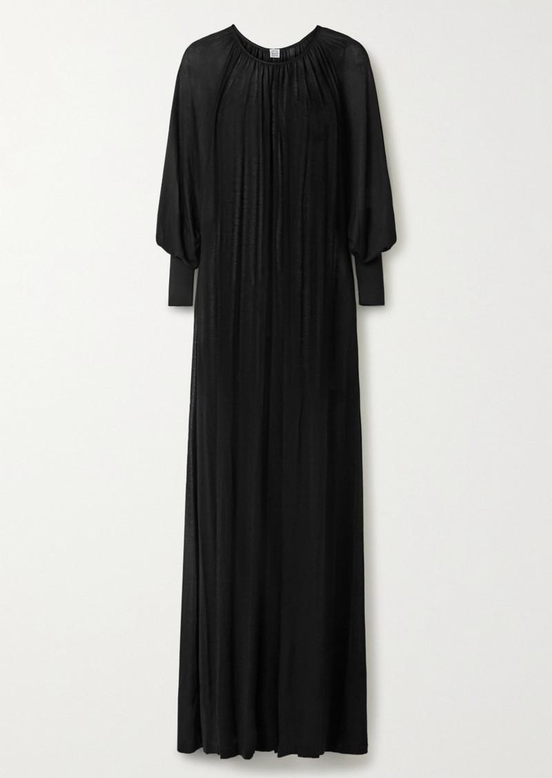 Totême Anville Oversized Gathered Stretch-knit Maxi Dress