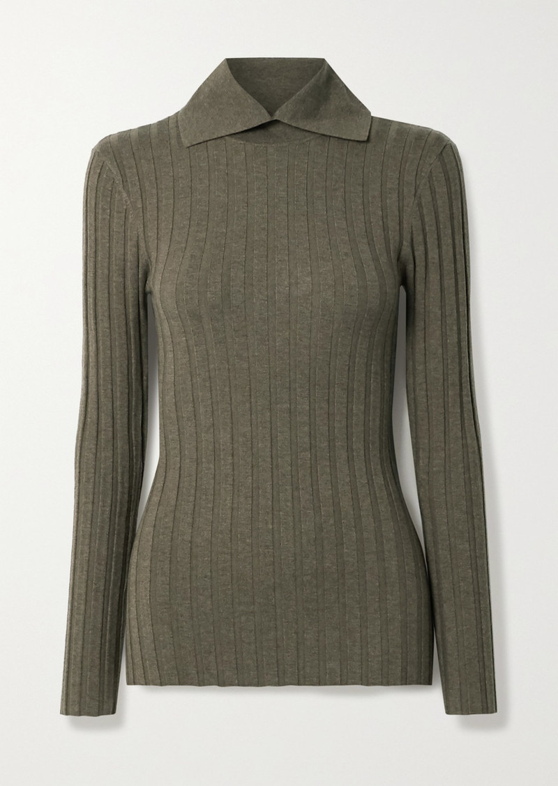 Totême Aviles Ribbed Wool-blend Sweater