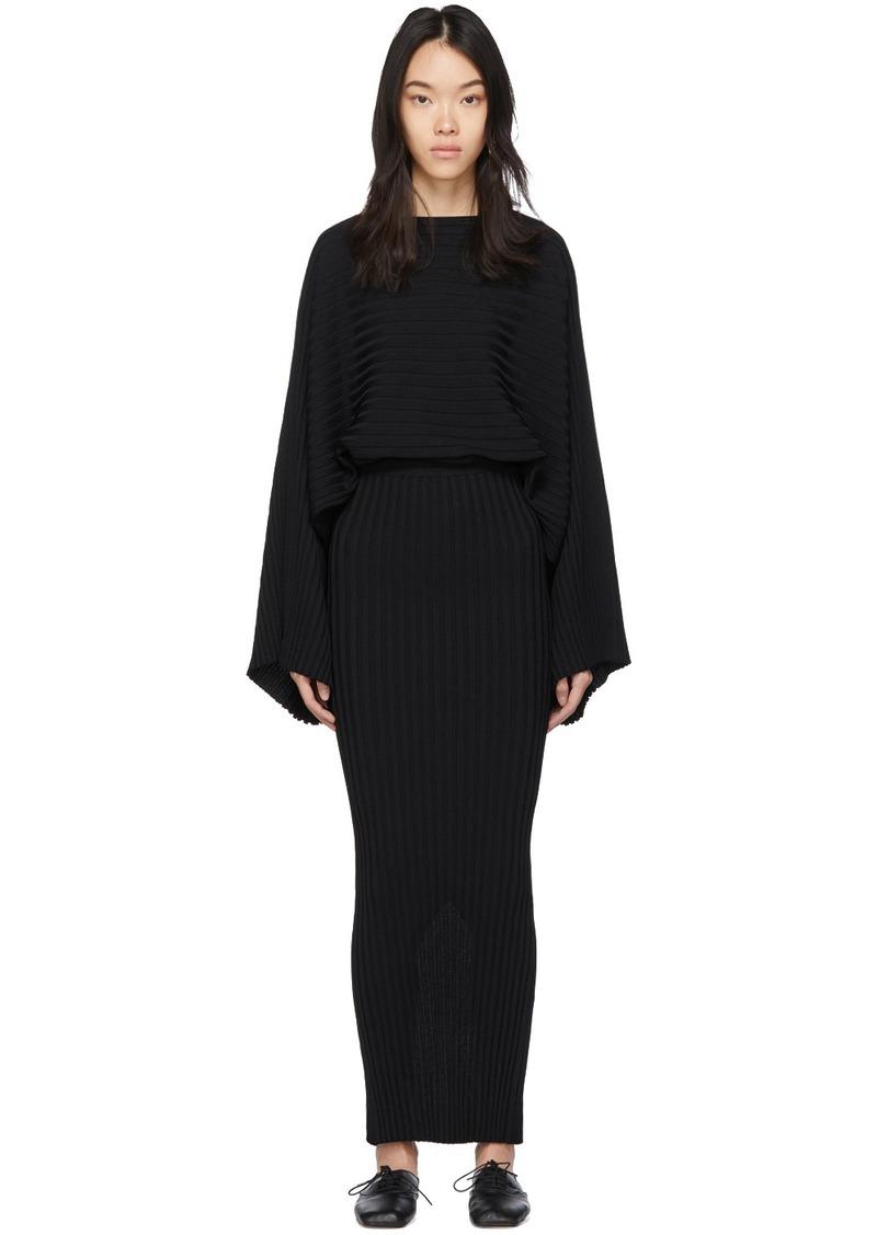 Totême Black Maristella Dress