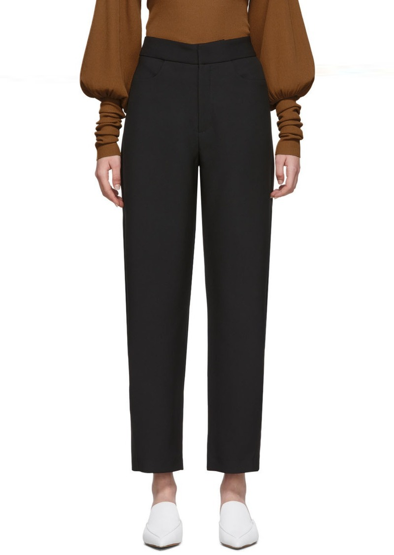 Totême Black Novara Trousers