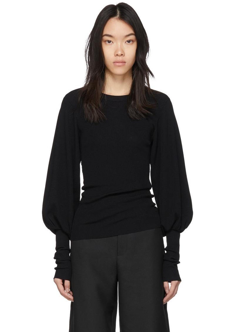 Totême Black Vignola Sweater
