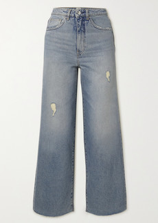 Totême Distressed High-rise Flared Jeans
