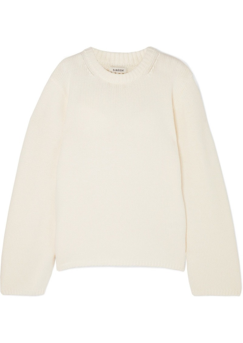 Totême Montese Wool And Cashmere-blend Sweater