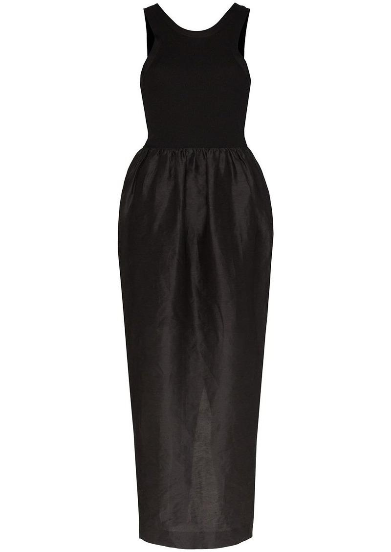 Totême Nonza dual-textured maxi dress