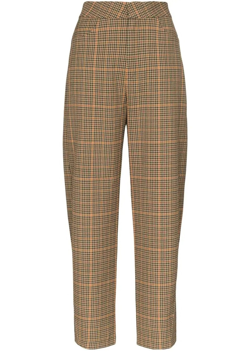 Totême Novara straight-leg check trousers