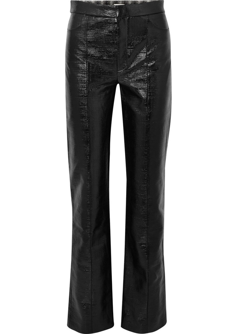 Totême Olbia Coated Cotton-blend Straight-leg Pants