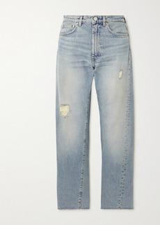 Totême Original Distressed Mid-rise Straight-leg Jeans