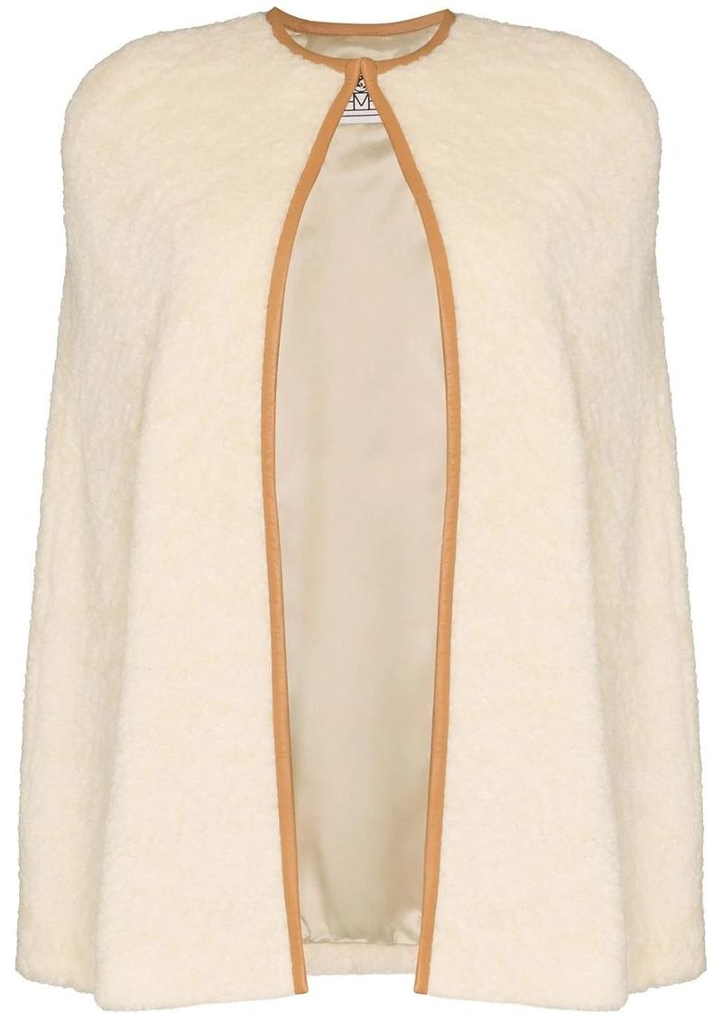Totême textured cape coat