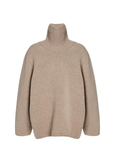 Totême Toteme - Women's Cambridge Wool-Cashmere Sweater - Neutral/brown - Moda Operandi