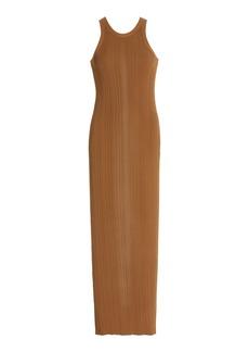 Totême Toteme - Women's Seamless Ribbed-Knit Tank Dress  - Brown - Moda Operandi