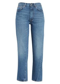 Totême Original Crop Jeans (Washed Blue)