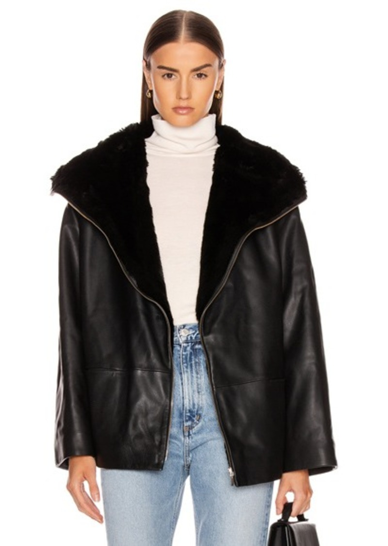 Totême Toteme Reversible Annecy Leather Jacket