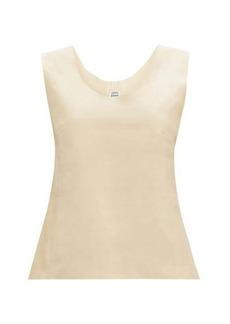 Totême Bergara scoop-neck leather top