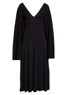 Totême Bolbec Long Bell Sleeve Midi Dress