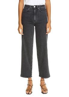 Totême High Waist Flare Crop Jeans (Grey)