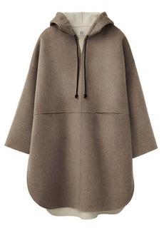 Totême Hooded wool-blend felted-flannel poncho