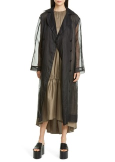 Totême Pisa Double Breasted Organza Trench Coat