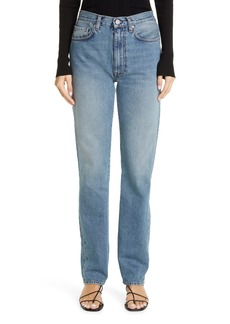 Totême Studio High Waist Straight Leg Jeans