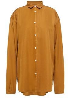 Totême Woman Benicia Silk-twill Shirt Saffron