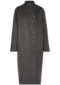 Totême Woman Bergerac Oversized Double-breasted Wool-blend Felt Coat Dark Gray