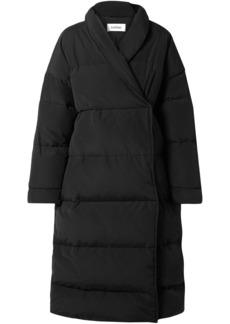Totême Woman Quilted Cotton-blend Canvas Down Coat Black