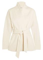 Totême Woman Zurs Belted Wool-blend Jacket Ivory