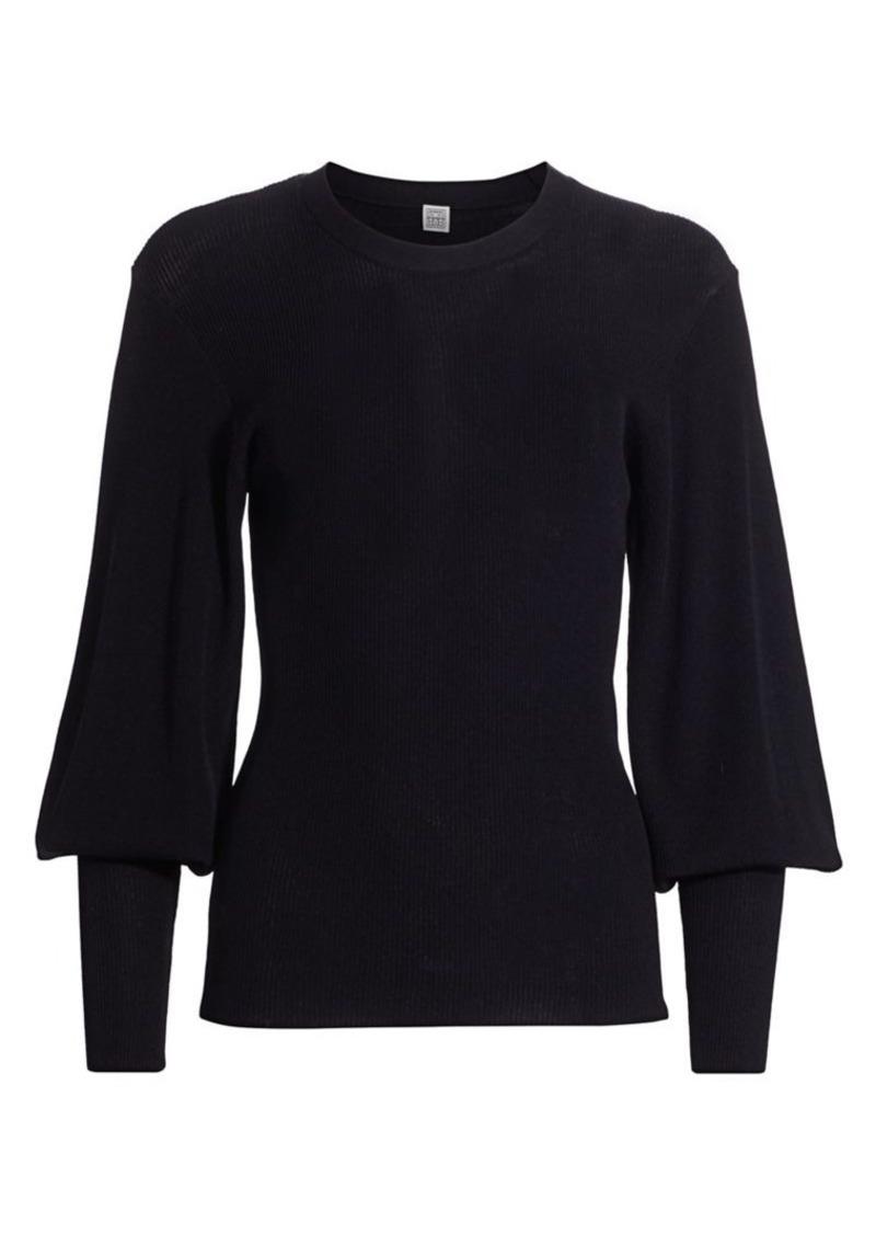 Totême Vignola Puff-Sleeve Sweater