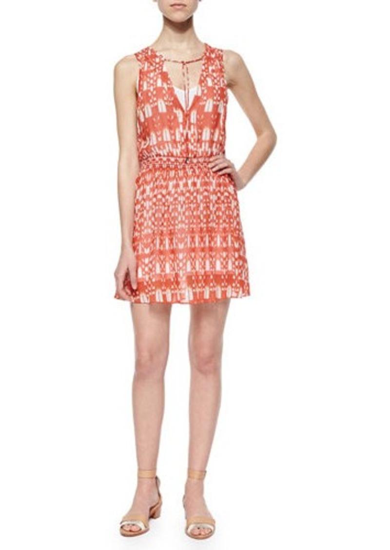 Townsen Roots Tie-Neck Printed Dress