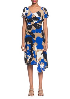 Tracy Reese Asymmetric Surplice Sheath Dress