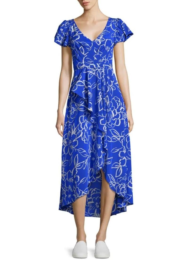 Tracy Reese Cascade Printed Hi-Lo Dress