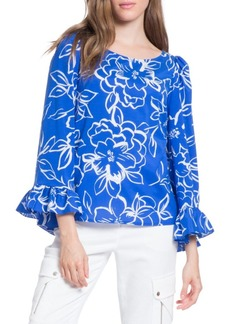 Tracy Reese Flounced Printed Top