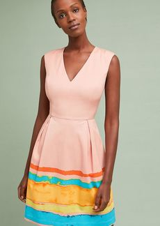 Painterly Pleated Dress