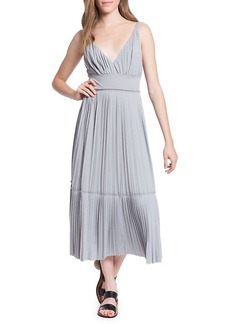Tracy Reese Plisse Pleated Jersey Midi Dress