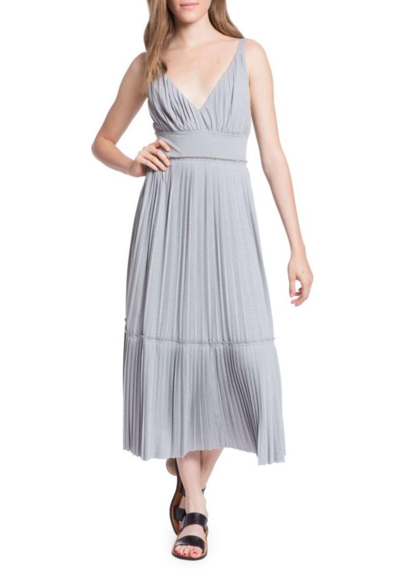 Tracy Reese Plisse Pleated Jersey Slip Dress