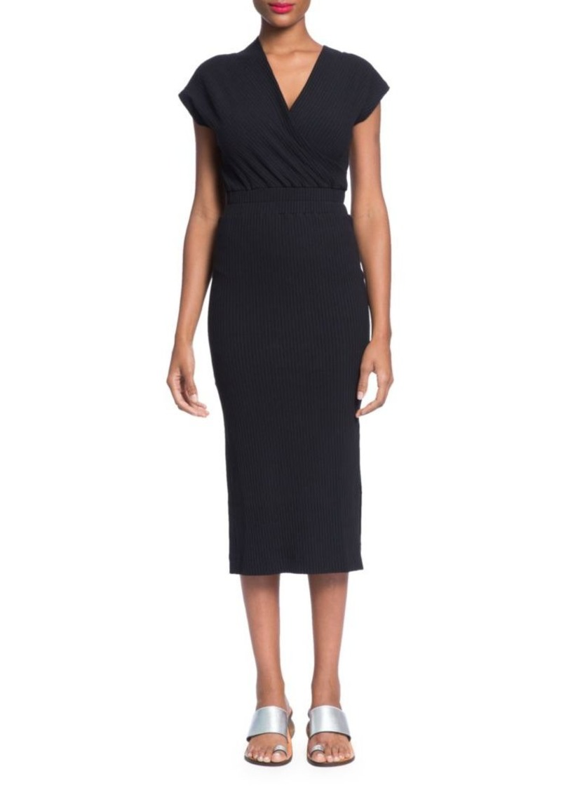 Tracy Reese Ribbed Wrap Top Dress