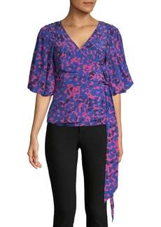 Tracy Reese Silk-Blend Wrap Blouse