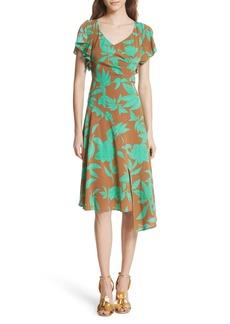 Tracy Reese Asymmetrical Faux Wrap Dress