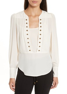 Tracy Reese Button Front Silk Blouse